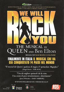 we will rock you the musical flyer